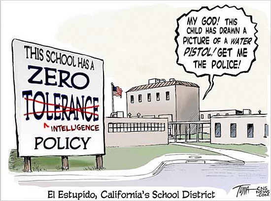 Children Gun Policy Cartoon