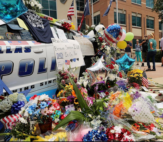 Dallas Police flowers