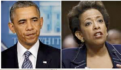 President Barack Obama and Attorney General Loretta Lynch
