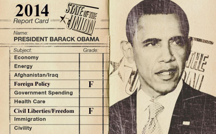 Obama's Report Card 2014 Civil Liberty