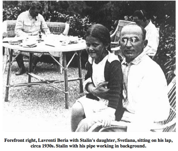 Lavrenti Beria with Stalin and Svetlana