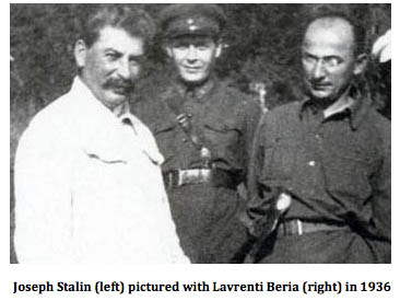 Stalin with Beria 1936