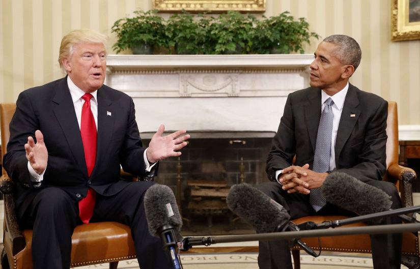Trump and Obama meet at White House
