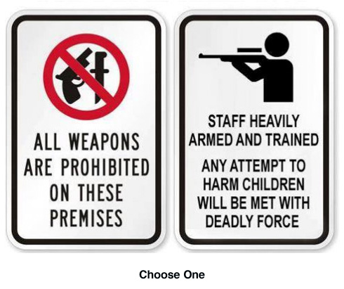 Weapons signs